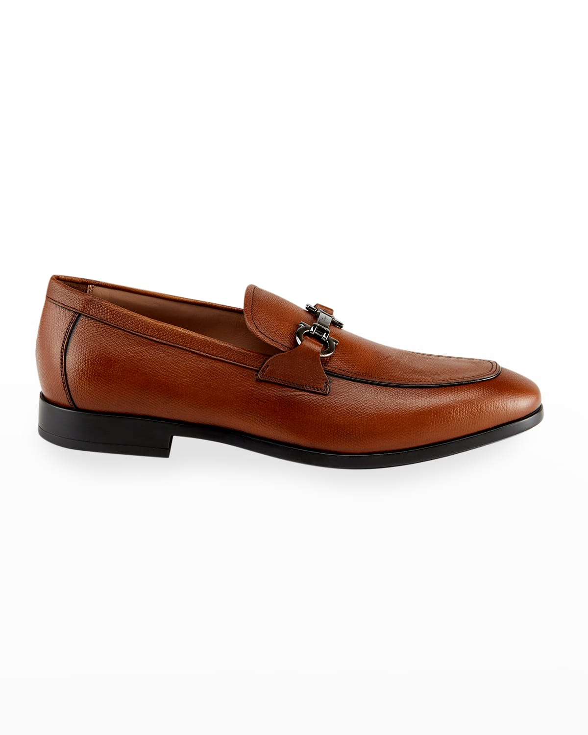 Men's Pebbled Leather Gancini Loafers