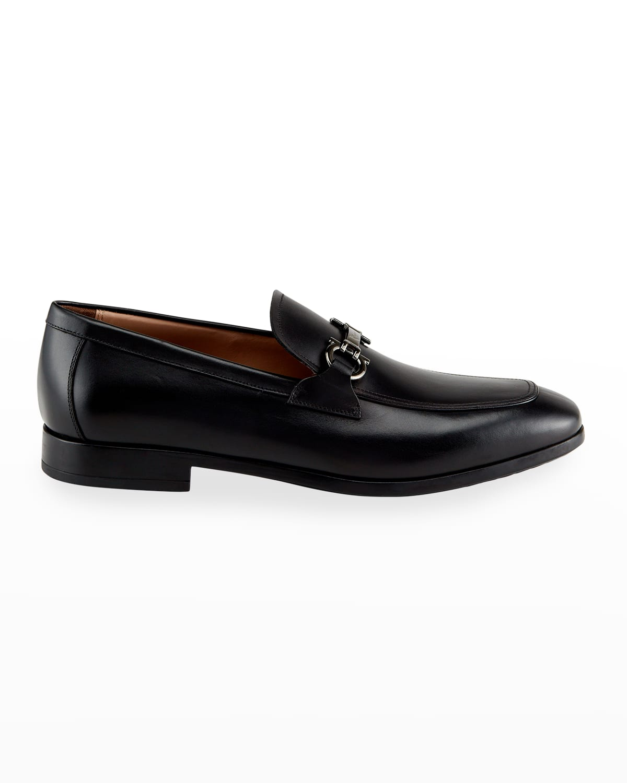 Men's Gancini-Bit Leather Loafers