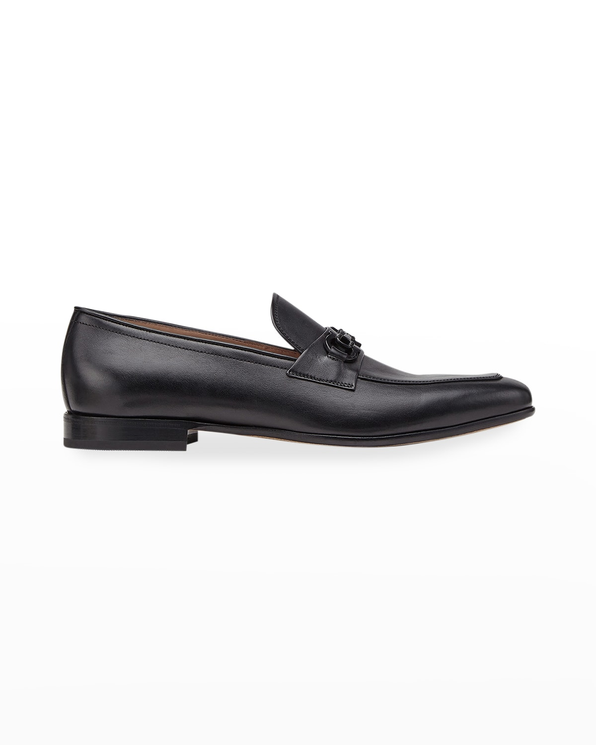 Men's Reno Leather Loafers with Matte Gancini Bit