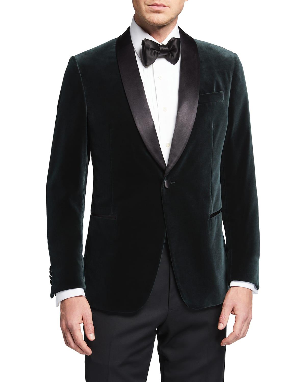 Men's Velvet Shawl-Lapel Dinner Jacket