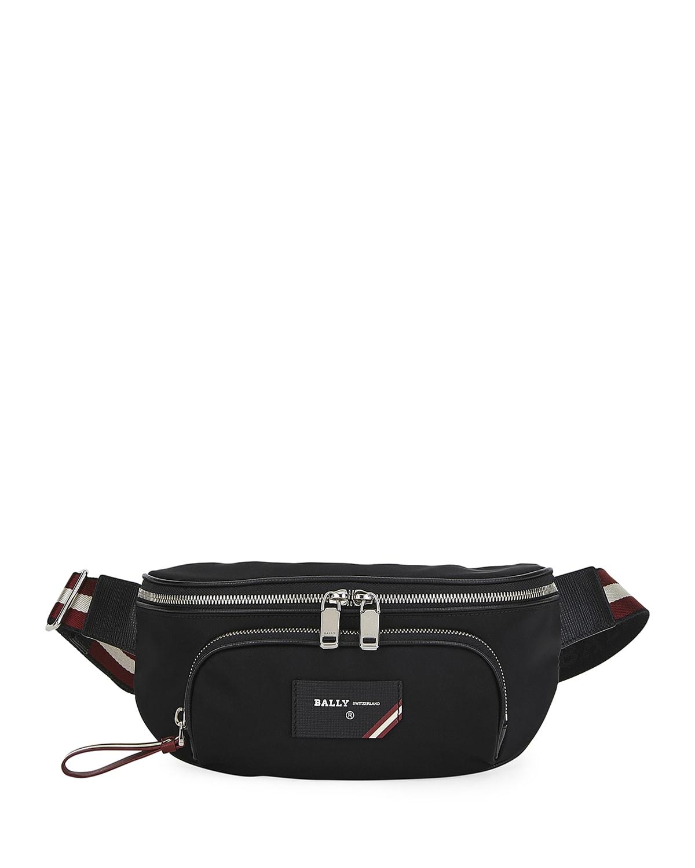 Men's Trainspotting Belt Bag w/ Leather Trim