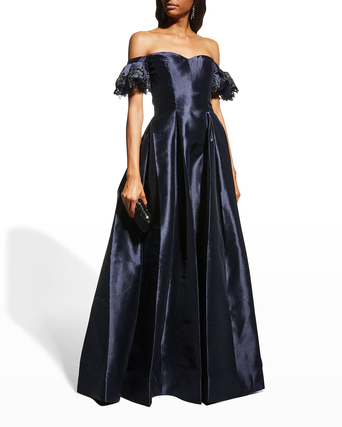 Off-Shoulder Sweetheart Gown