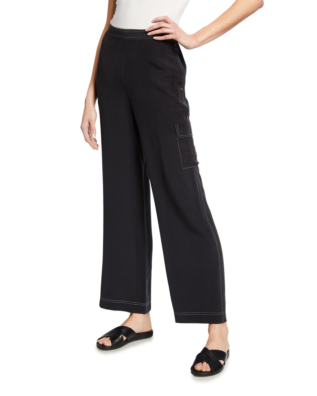 Contrast Stitch Cargo Pants