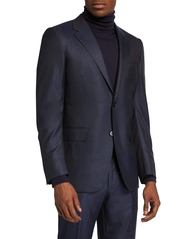 Men's 15milmil Graffiato Two-Piece Suit