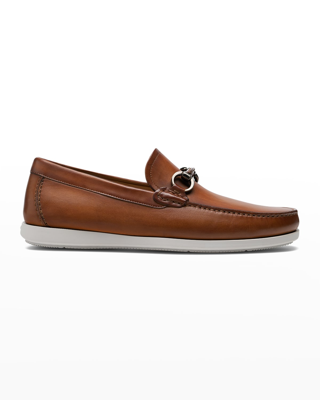 Men's Marbella Bit-Strap Leather Slip-Ons
