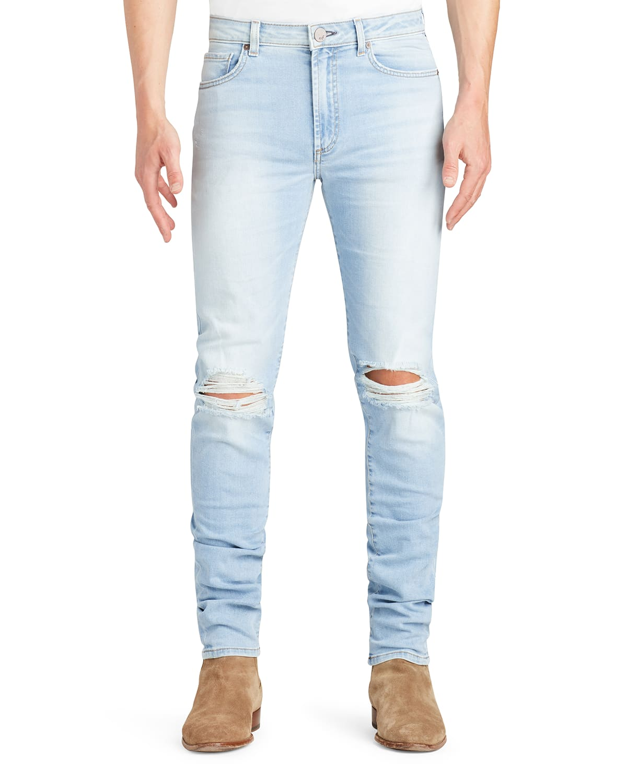 Men's Greyson Knee-Rip Skinny Jeans