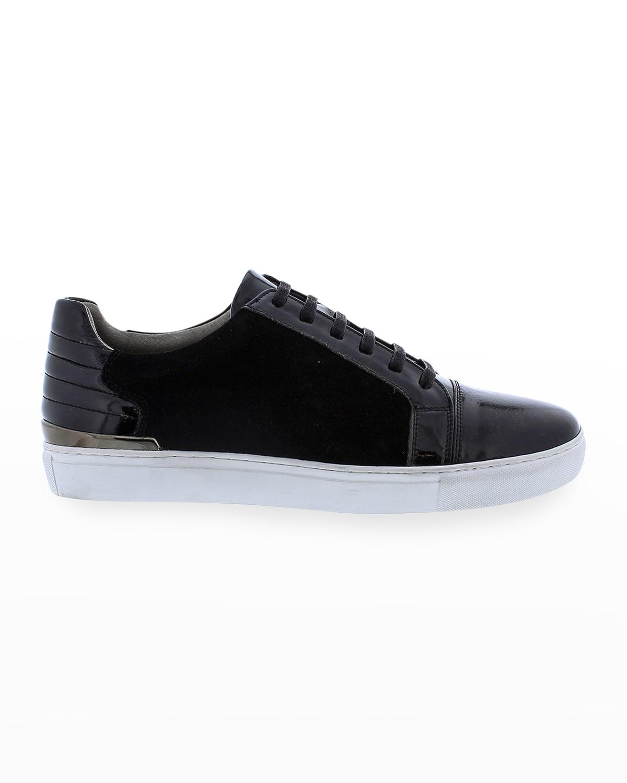 Men's Ellison Patent Leather/Suede Sneakers
