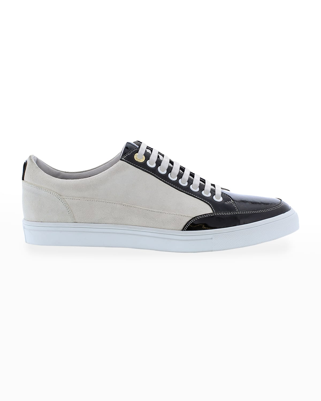 Men's Buffet Suede/Leather Low-Top Sneakers