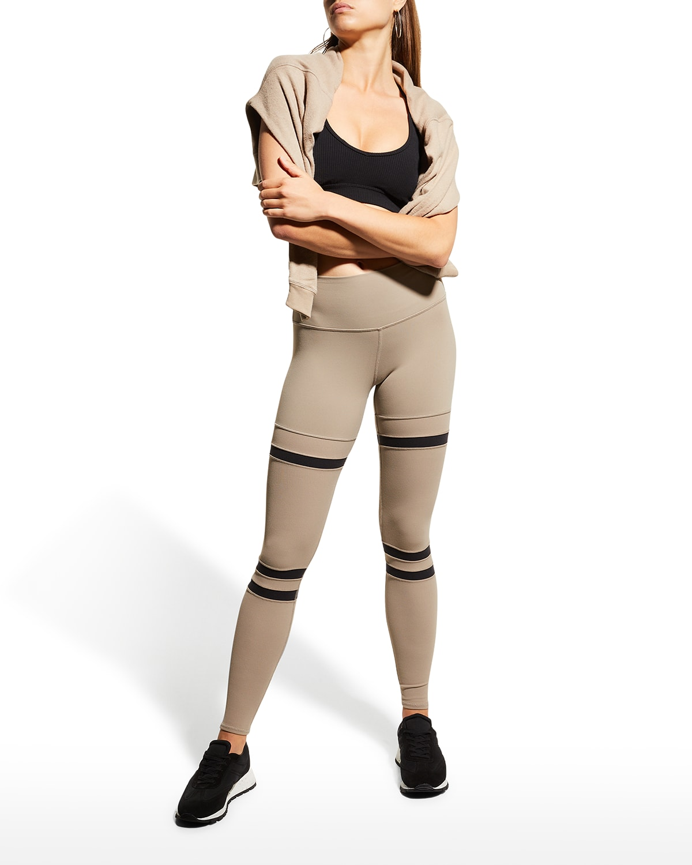Legit Striped High-Waist Active Leggings