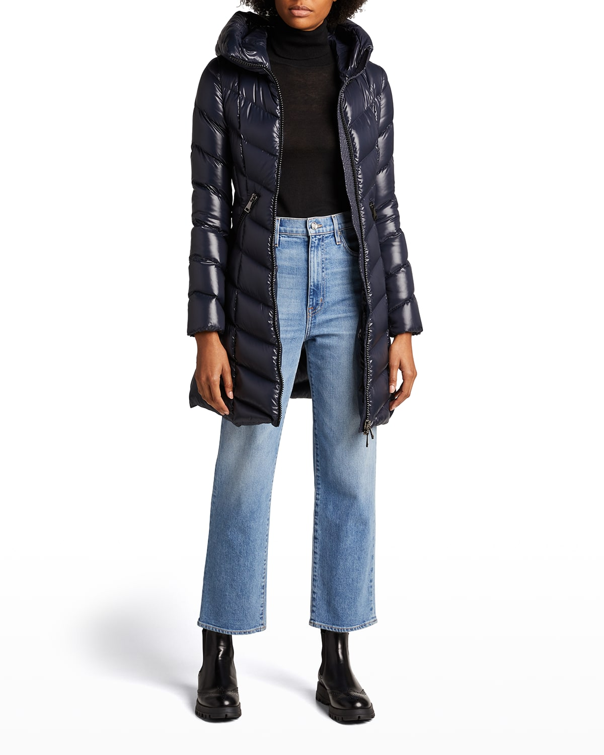 Marus Quilted Chevron Down Jacket