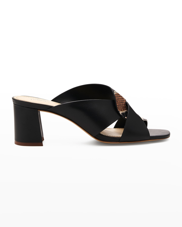 Ulla Snake-Print Mule Sandals