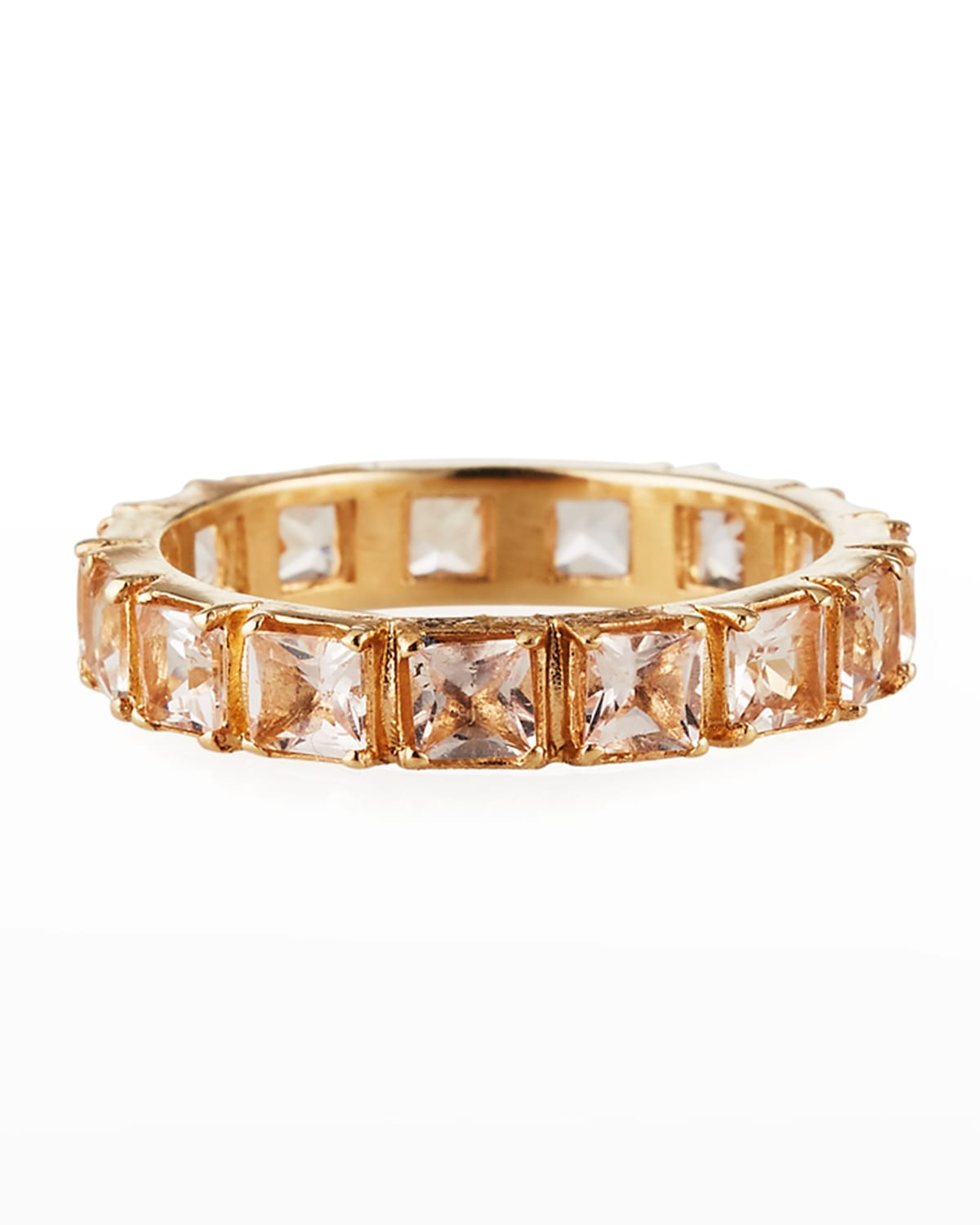 Cuento 14k Rose Gold Peach Morganite Band Ring