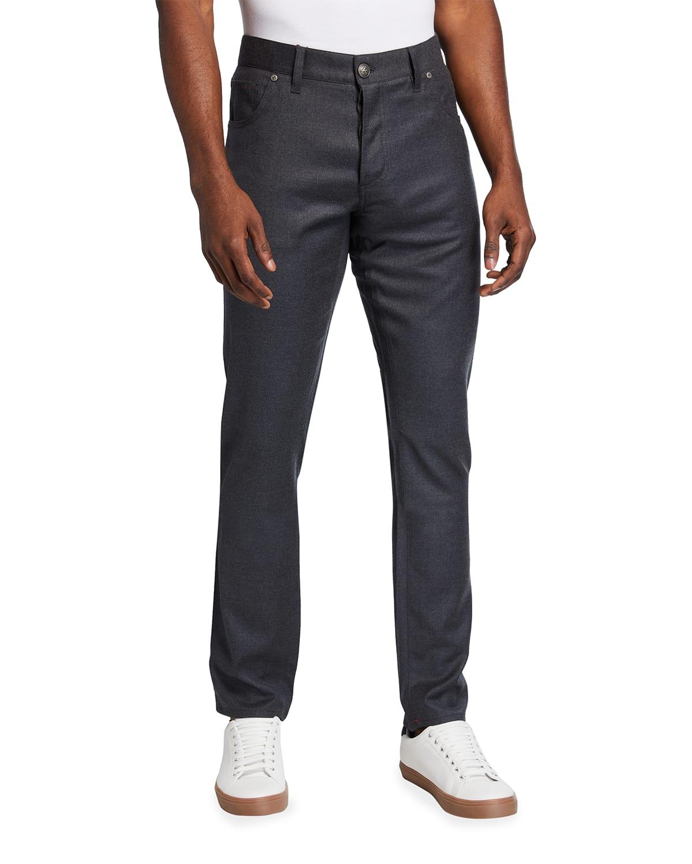 Men's 5-Pocket Wool-Blend Pants