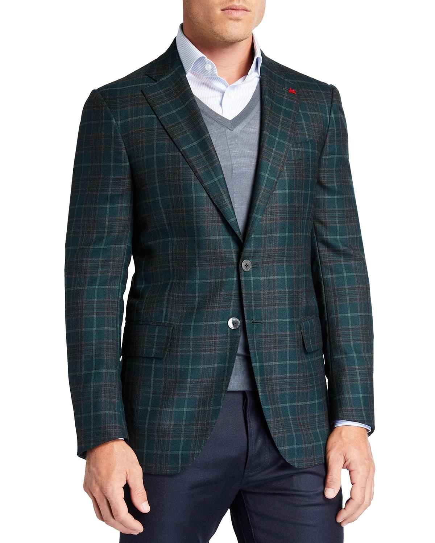 Men's Plaid Cashmere Sport Jacket