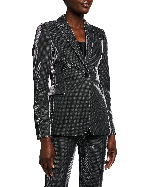 Metallic Pinstripe Blazer