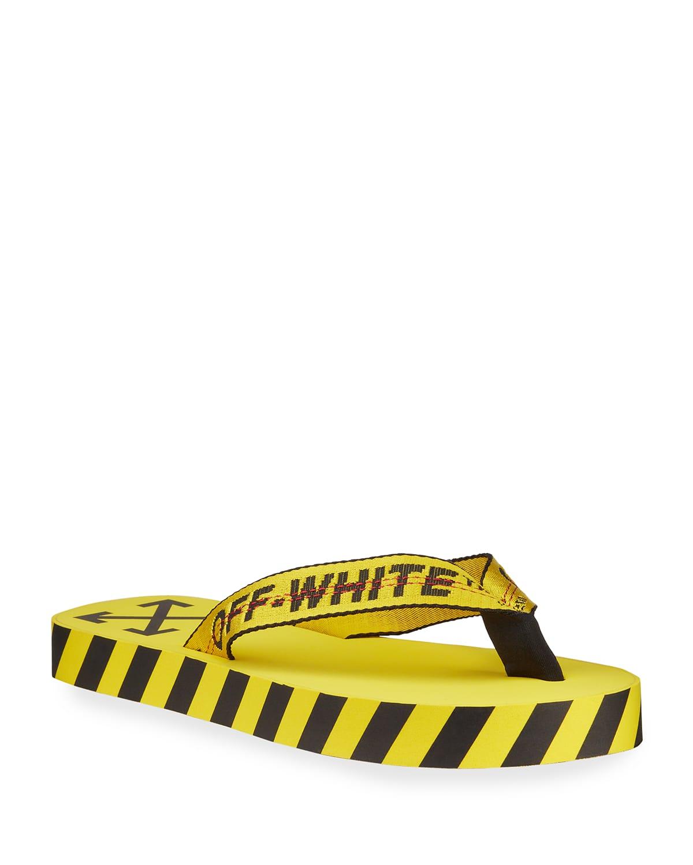 Men's Web-Strap Striped Flip Flops