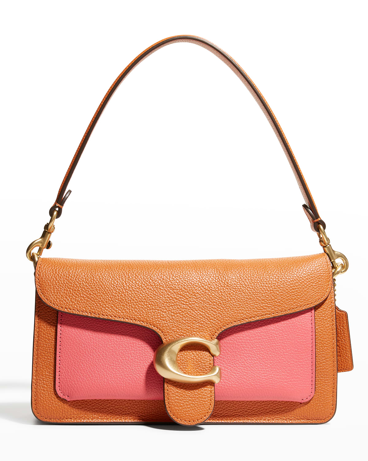 Tabby Colorblock Mixed Leather Shoulder Bag