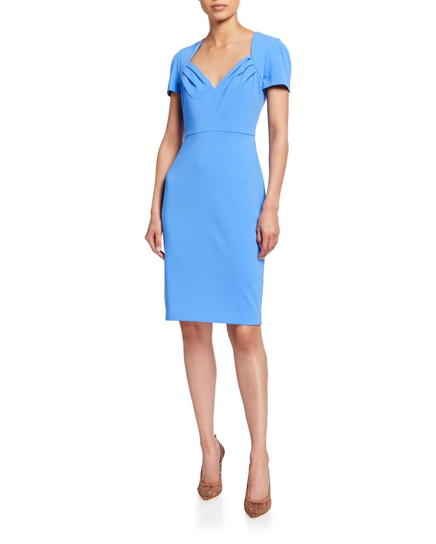Sweetheart Short-Sleeve Sheath Dress