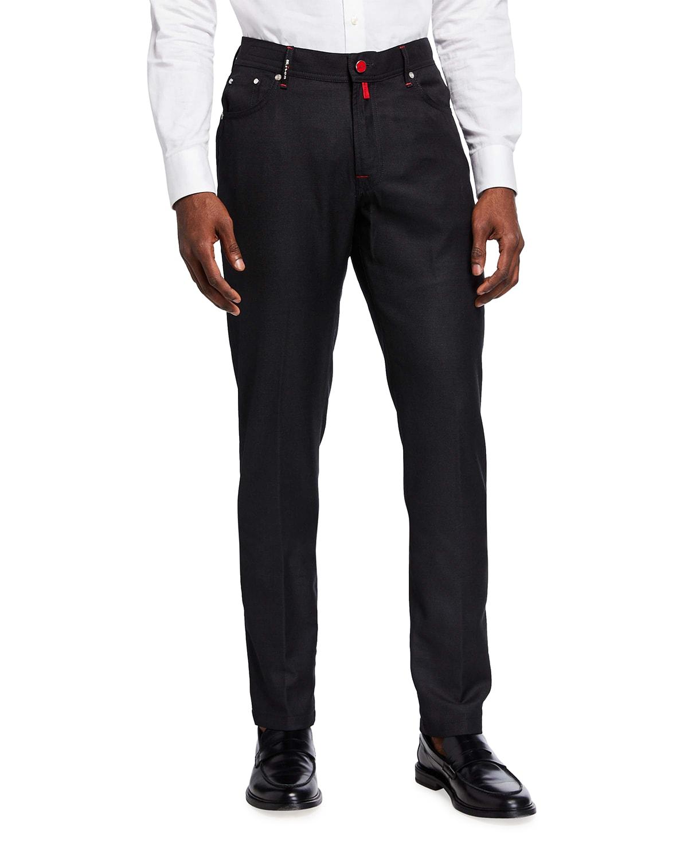Men's Birdseye Wool 5-Pocket Pants
