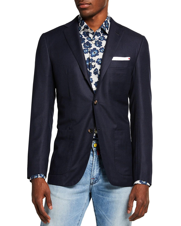 Men's Solid Birdseye Sport Jacket