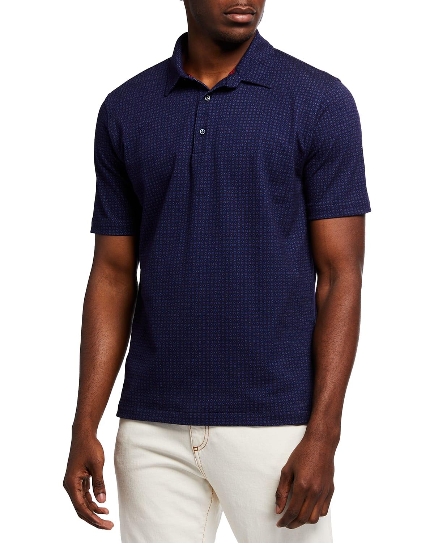 Men's Printed Circles Polo Shirt