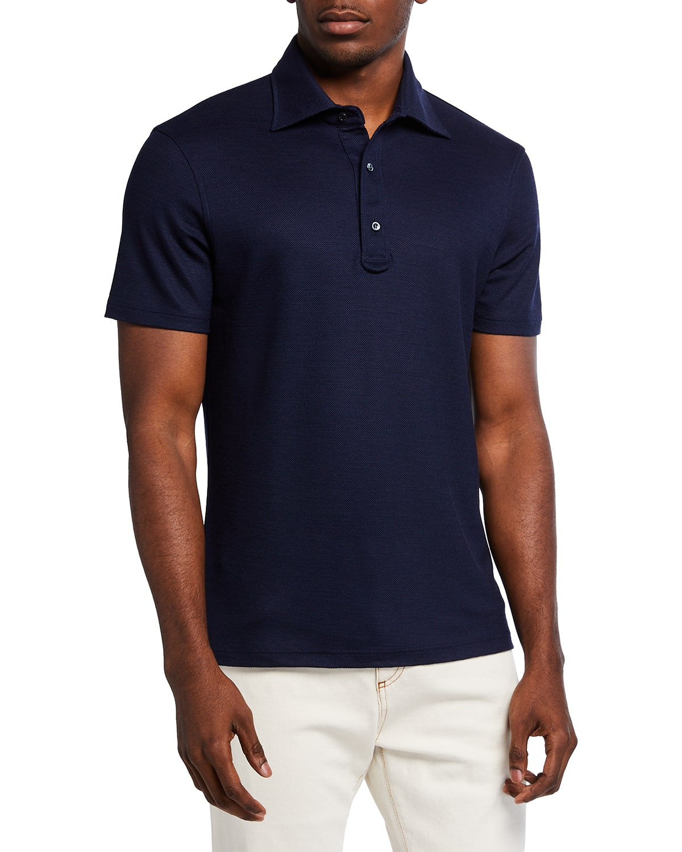 Men's Grand Pique Wool Polo Shirt