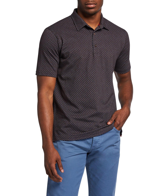 Men's Floral Pique Polo Shirt