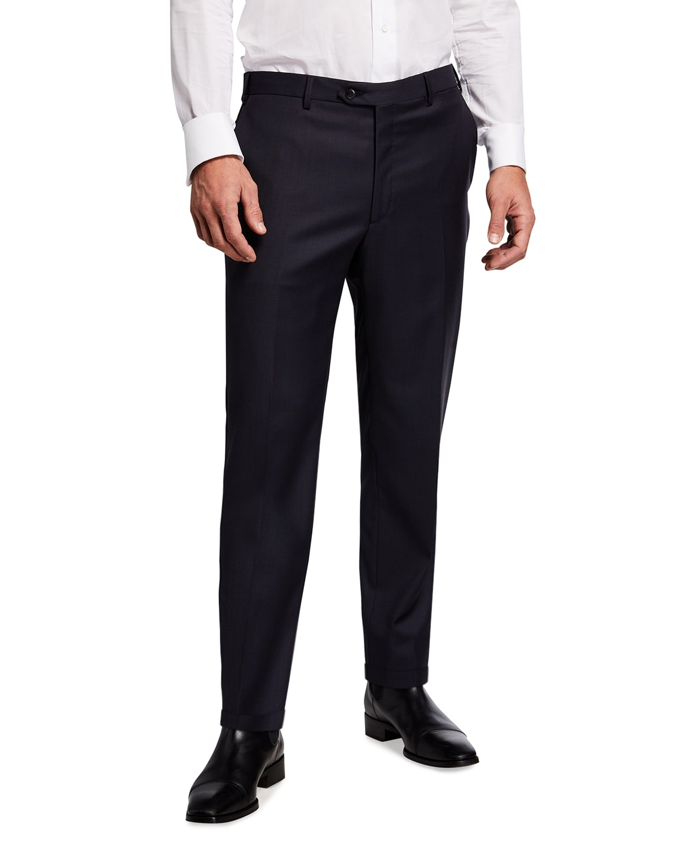 Men's Tigulli Solid Wool Trousers