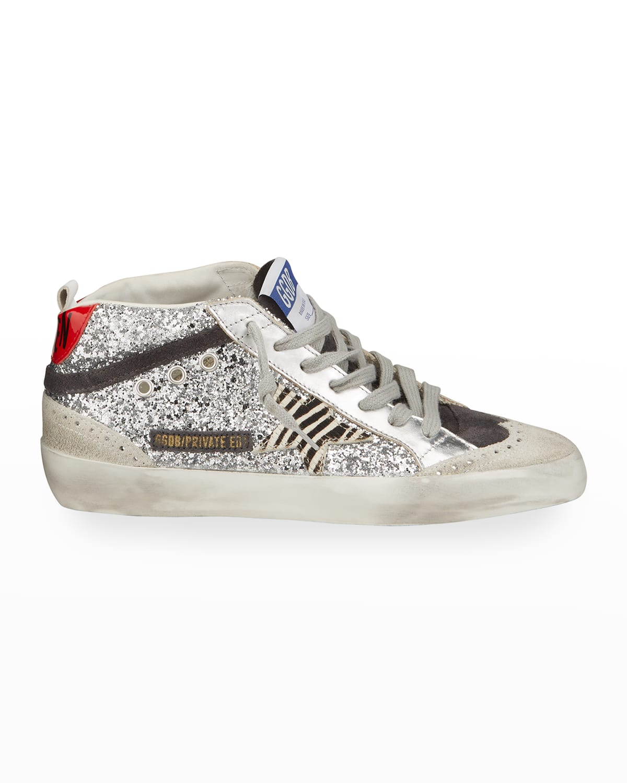 Midstar Glitter High-Top Court Sneakers