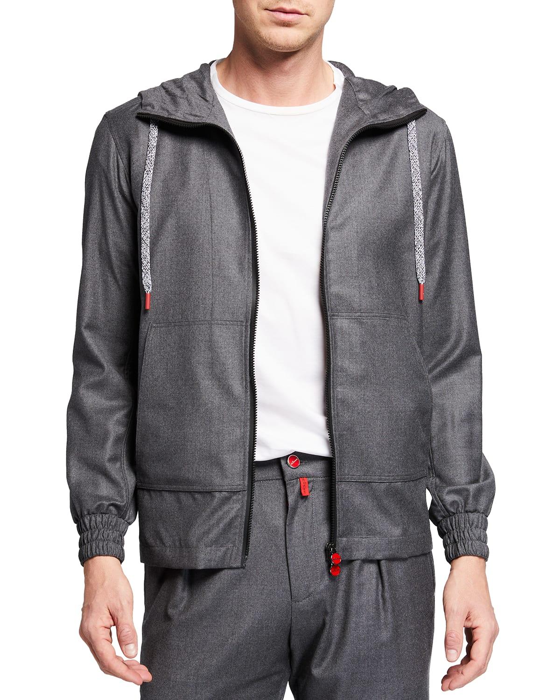 Men's Full-Zip Wool Hoodie