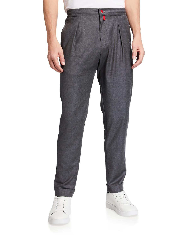 Men's Pleated Wool Trousers