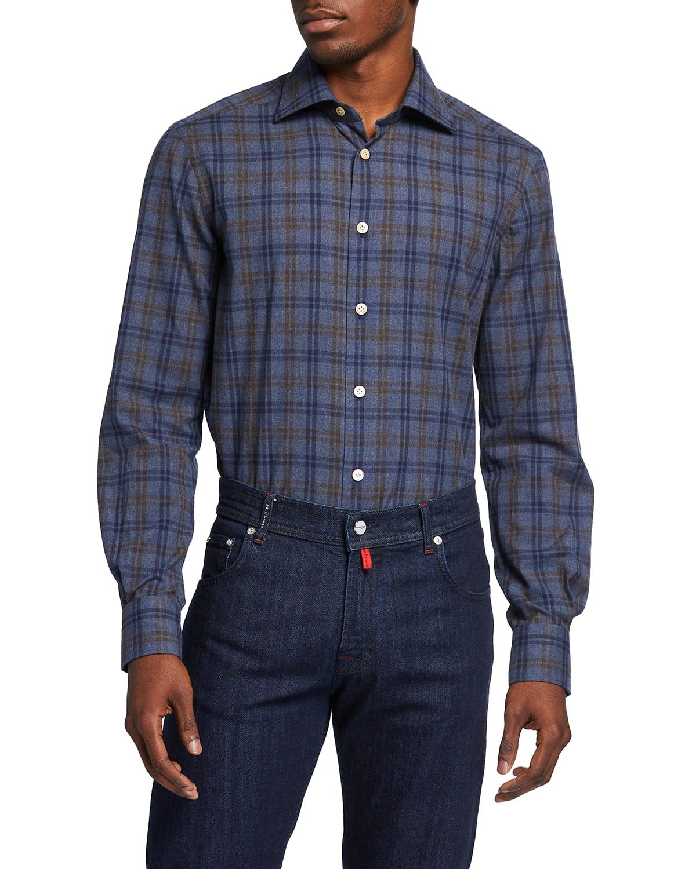 Men's Chambray Check Sport Shirt