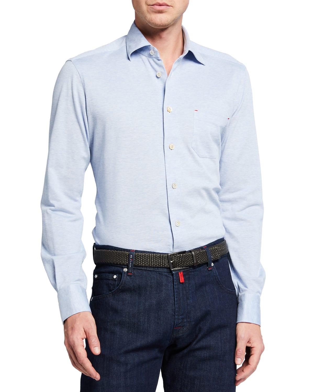 Men's Solid Pique Pocket Sport Shirt
