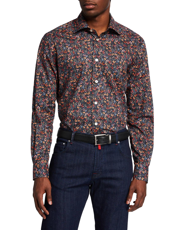 Men's Multi-Floral Sport Shirt
