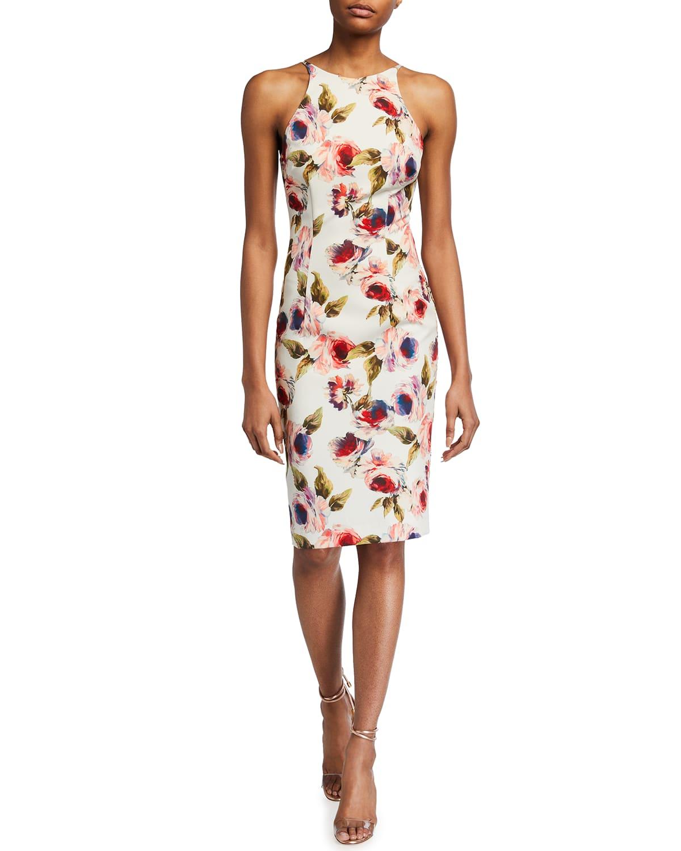 Alexandria Floral Print Sheath Dress