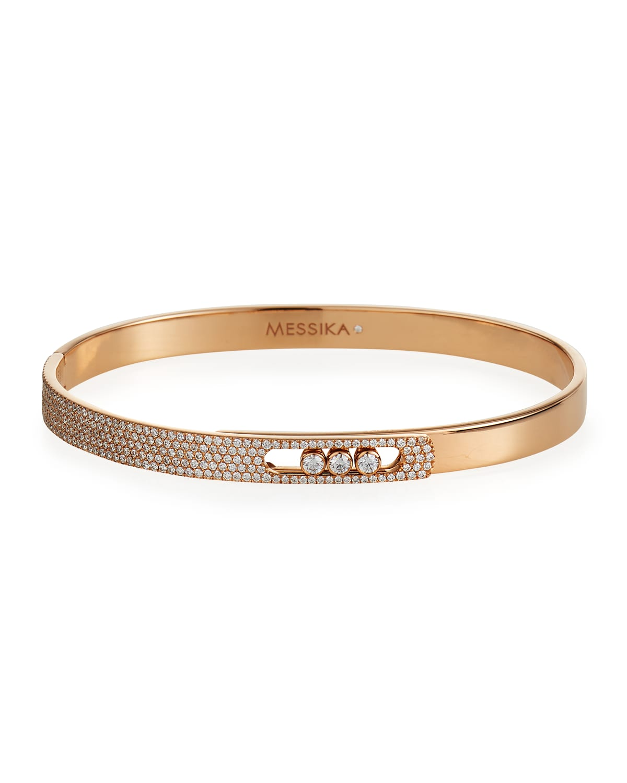 Move Noa 18k Pink Gold Small Diamond Bangle