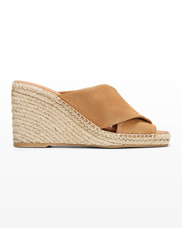 Gaelan Suede Wedge Espadrille Sandals