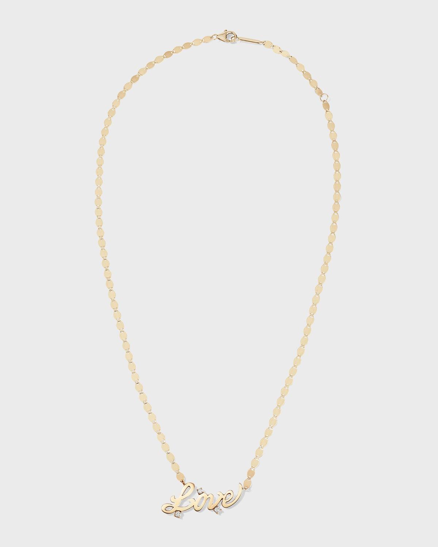 14k Solo Love Diamond Necklace