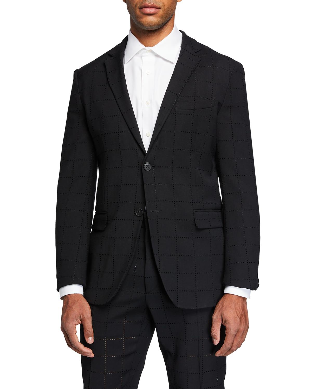 Men's Punched Squares Suit Jacket