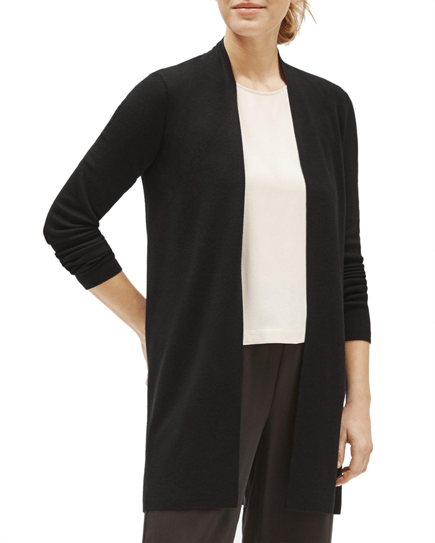 Ultrafine Merino Wool Long Straight Cardigan