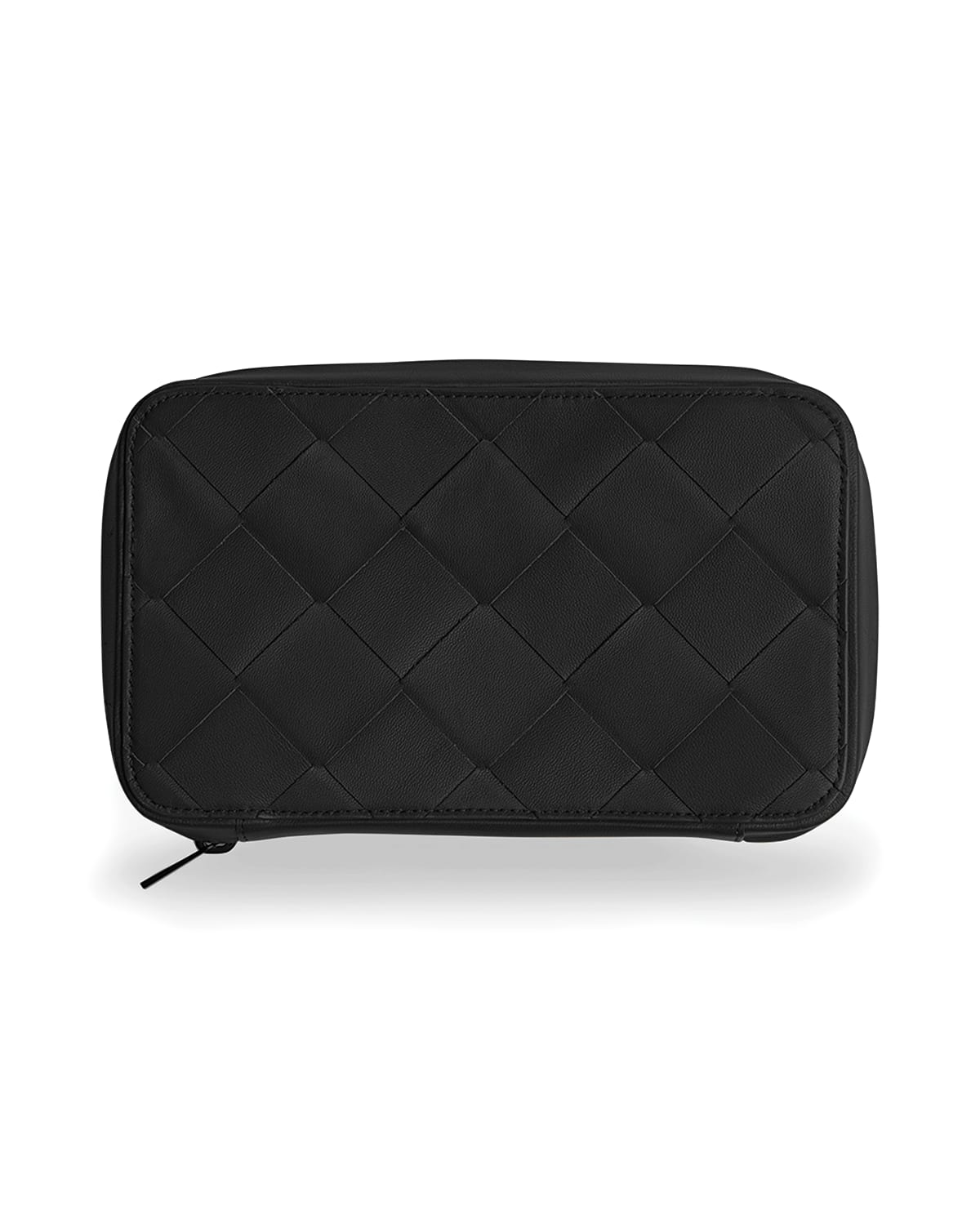 Men's Woven Leather Travel Toiletry Case