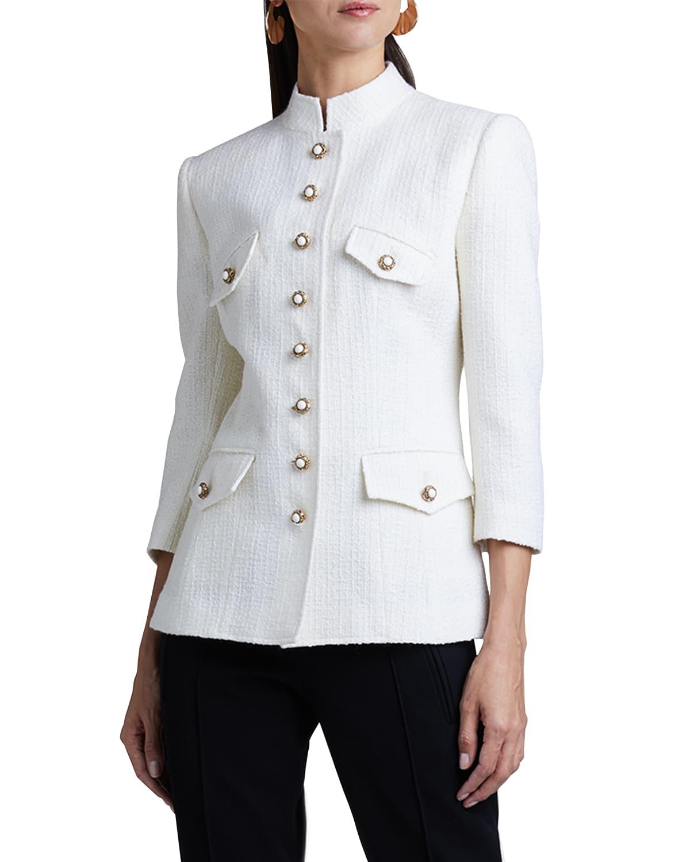 Textured Wool-Blend Quilt Jacket