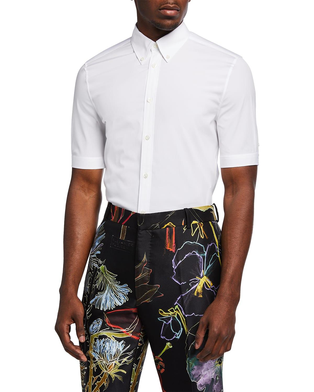 Men's Basic Point-Collar Sport Shirt