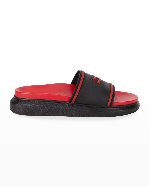 Men's Two-Tone Rubber Slide Sandals