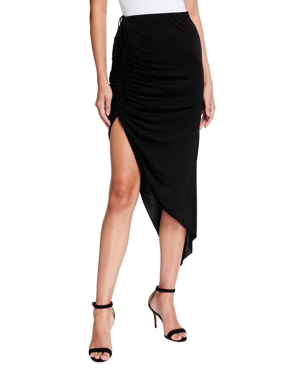 Draped Drawstring Skirt