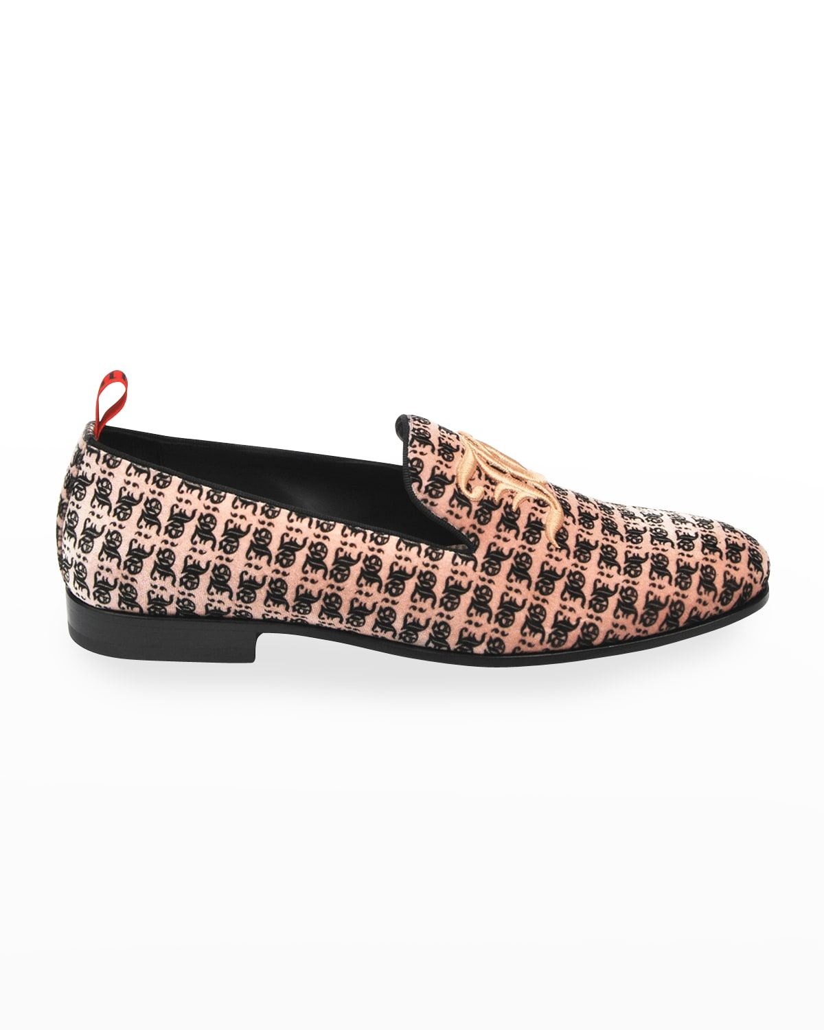 Men's Printed Loafers w/ Embroidery