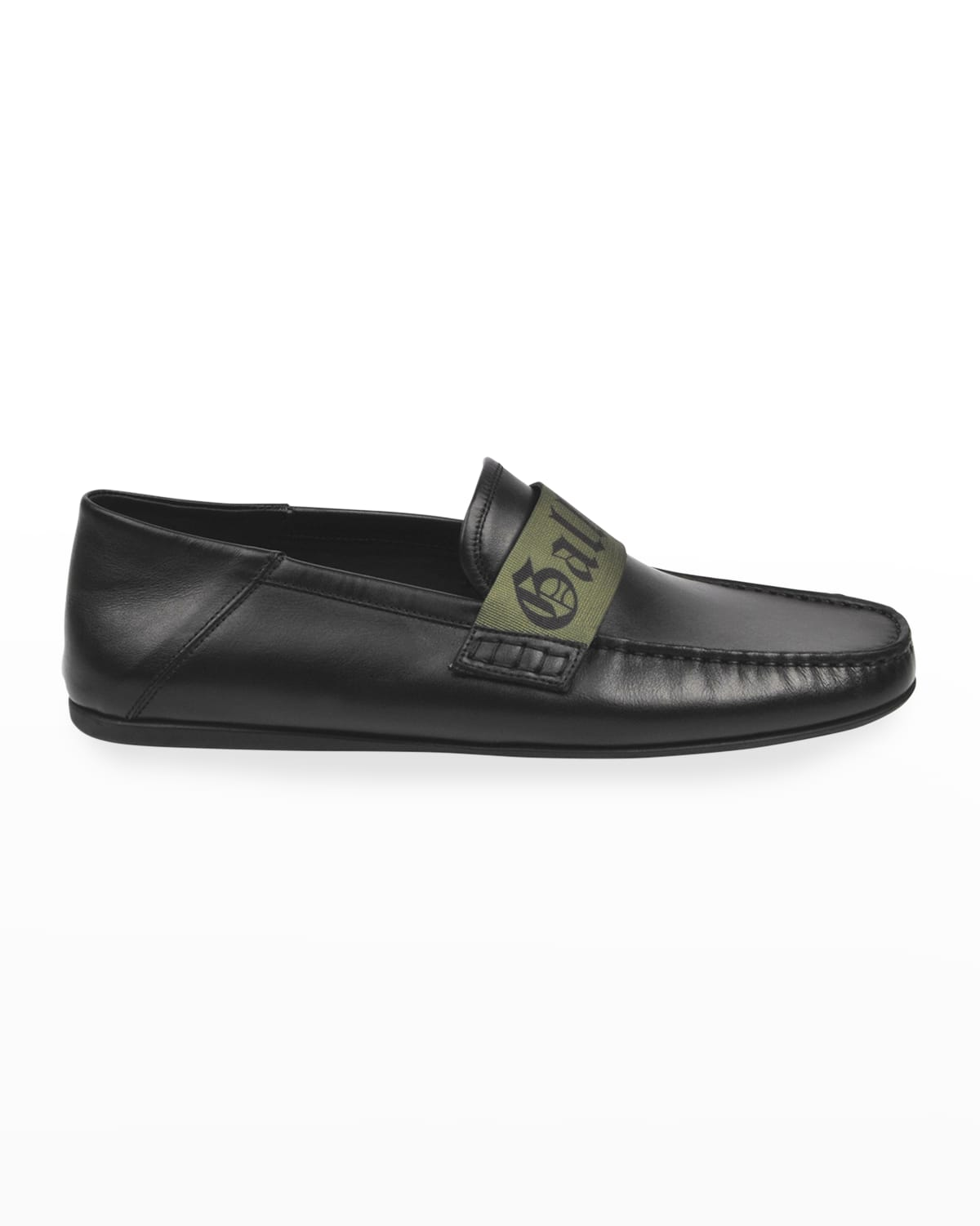 Men's Foldable Leather Drivers w/ Fabric Logo
