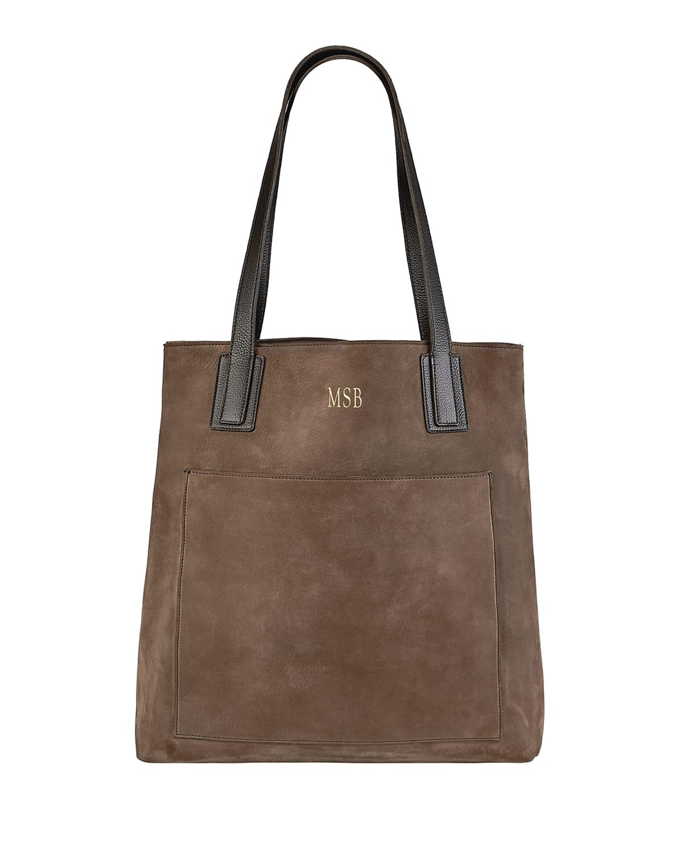 Metro Nubuck Leather Tote Bag