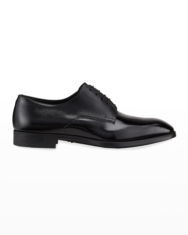 Men's Pebbled Leather Lace-Up Shoes