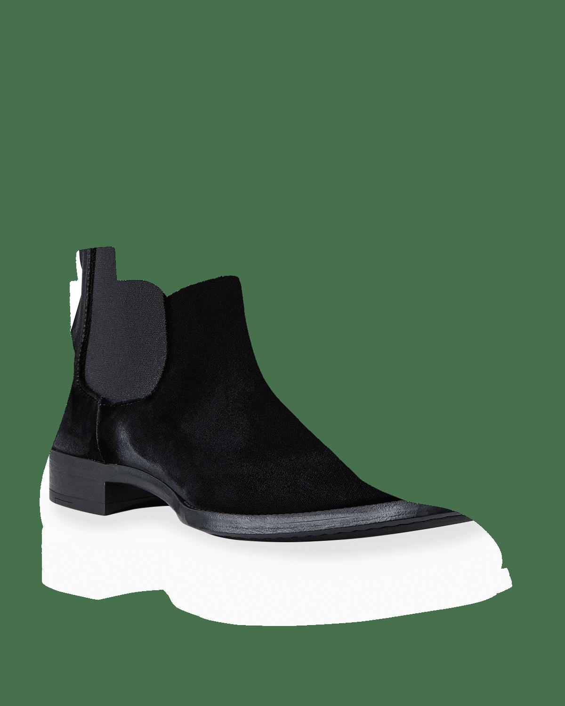Men's Velvet Chelsea Boots